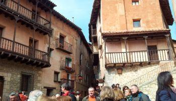 Grupo de corraleños en el viaje a Teruel.